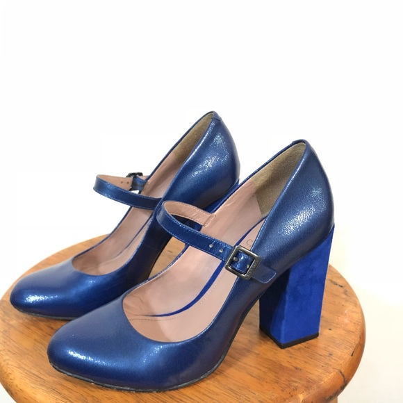 Vince Camuto Royal Blue Chunky Heels